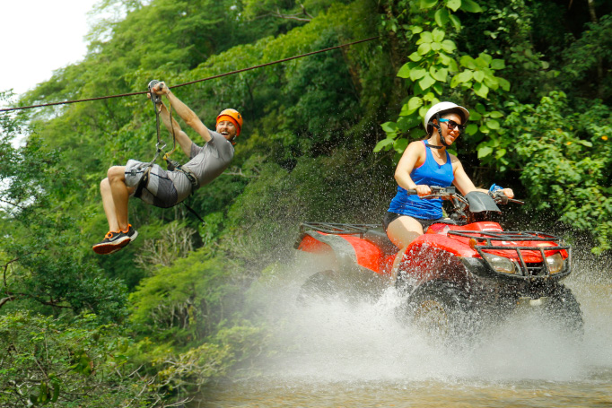 combo tours atv ride and zip line in puerto vallarta canopy river